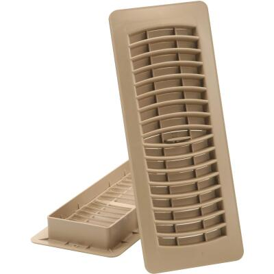 Imperial 4 In. x 10 In. Taupe Plastic Louvered Floor Register