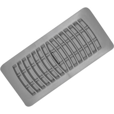 Imperial 4 In. x 10 In. Gray Plastic Louvered Floor Register