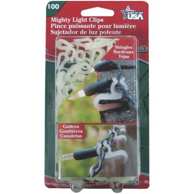 Adams White Gutter & Shingle Mighty Light Clips (100-Pack)